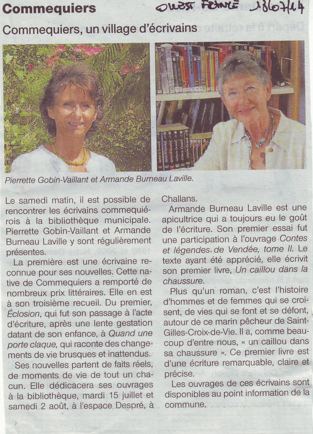 Ouest-France 13.07.14